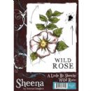 Crafters Companion - Sheena Douglass - A Little Bit Sketchy A6 Stamp - Wild Rose